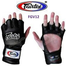 NEW SPARRING GLOVES FGV12 FAIRTEX MUAY THAI BOXING MMA  OPEN THUMB LOOP ULTIMATE