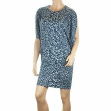 Ex French Connection Jersey Dress Navy Grey Abstract Print Oversized Tunic Top