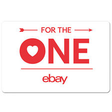 eBay Gift Card For The One Edition $15 to $100 - Email Delivery