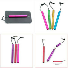 Universal Metal Anti-Dust Plug Touch Screen Pen For iPad iPhone Tablet
