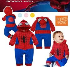 Spiderman Baby Toddler Grow Short Sleeved Bodysuit Romper Jumpsuit Onesie