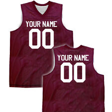 14 Colors Custom Reversible Basketball Jersey with Names & Numbers on both sides