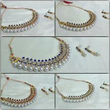 New Fashion Indian Color Party/Bridal Jewelry Rhinestone Necklace Earrings Set