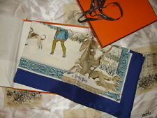 Hermes scarf , titled L' Hiver, with box and ribbon. Unused,perfect condition