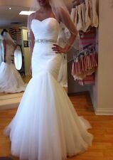 2016 Stock White Wedding dress Bridal Gown custom size 6-8-10-12-14-16