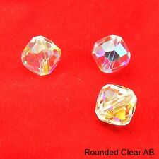 4 / 10 / 20 Genuine SWAROVSKI Crystal 5309 ROUNDED Bicone BEADS 8mm CLEAR AB