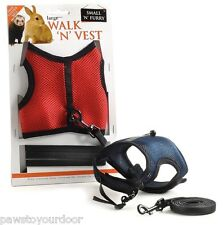 Rabbit & guinea pig harness & lead set large