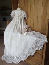 CHRISTENING LACE GOWN ROYAL PRINCE PRINCESS HEIRLOOM BESPOKE HANDMADE BONNET
