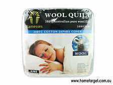Wool Quilt,100% Australia Pure Wool Fill,500gsm,Cotton Japara Cover,All size