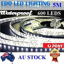 Waterproof 12V Cool White 5M 3528 SMD 600 LED Strips Led Strip Lights Connector