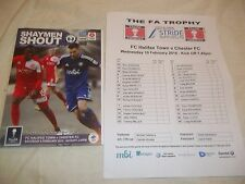 2015/16 FC HALIFAX TOWN V CHESTER FA TROPHY 6TH FEBRUARY 2016 POSTPONED & T/S