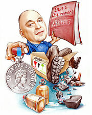 Funny Personalised Caricature Retirement Gift Employee Appreciation farewell
