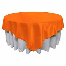 LA Linen Square Bridal Satin Tablecloth 72 by 72-Inch. Made in USA