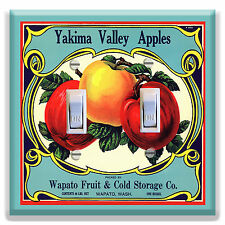 Light Switch Plate Cover - Vintage Country Fruit Crate - Yakima Valley Apples
