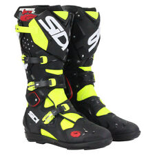 Sidi NEW 2016 Mx Crossfire 2 SRS Euro Dirt Bike Black Yellow Motocross Boots