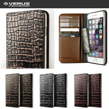 Verus Genuine Leather Wallet Croco Diary Cover For Samsung Galaxy Note 5 Case
