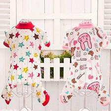 Pet Dog Soft Cotton Pajamas Clothes Puppy Cute Cartoon Pattern Jumpsuit Apparel