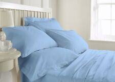 Royal Hotel's 1000 TC Sky Blue Solid 100% Cotton Duvet/Fitted/Flat Fast Shipping