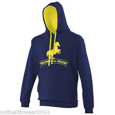 Personalised Printed Born To Ride Horse Ramped Equestrian Adults Kids New Hoodie