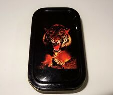 Red Tiger 1oz Hinged Lid Tobacco Tin with Various Standard booklets by eTrendz