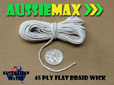 45 Ply 100% Natural Cotton Candle Wick Various Lengths