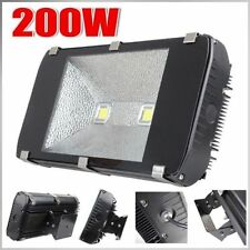 200W LED 2*100W Flood Light Waterproof IP65 Black Cool, Warm White Outdoor Lamp