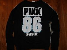 VICTORIAS SECRET PINK BLING NEW MARLED LIMITED ED CREWNECK SWEATSHIRT NWT