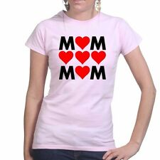 Mum Mother's Day Mom Love Heart Ladies T shirt Tee Top T-shirt