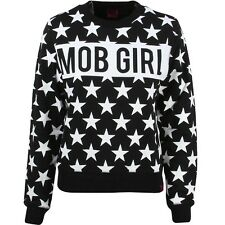 $72 Married To The Mob Women Mob Star Crewneck Sweater black