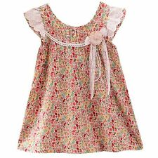 Girls Dress Colorful Flower Print Cotton Tank Party Birthday Child Cloth SZ 2-10
