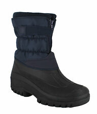 GroundWork LS87 Womens Navy Mukker Stable Winter WaterProof Lined Snow Boots