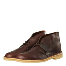 New Mens Clarks Originals  Desert Boots - Brown Tumbled Leather 100% Leather