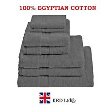 Genuine 100% Egyptian Cotton Face Cloth Guest Hand Towel Bath Sheet Towels BLUE