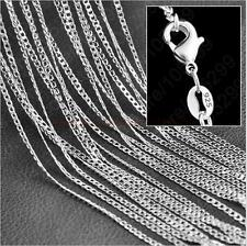 "Fine Wholesale lots 5pcs NF 925 Silver Plated 2MM Curb Chain Necklace 16""-30"""