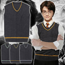 Harry Potter Cosplay Hogwarts School Uniform Costume Vest Tie Halloween