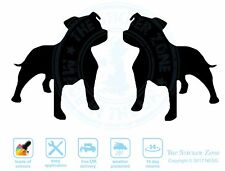 Staffordshire Bull Terriers Wall Art Vinyl Decal Stickers