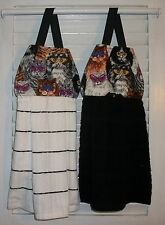 Cats Wearing Bright Colored Glasses Tabby Hanging Kitchen Dishtowel  HCF&D