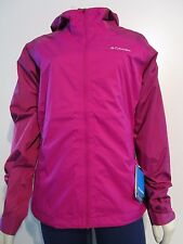 Womens S-M-L-XL Columbia Hot Thought II Hooded Omni Heat Waterproof Rain Jacket