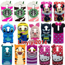 New 3D Cute Soft Silicone Case Mobile Phone Back Cover Skin For LG Phones