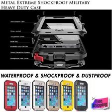 Waterproof Shockproof Aluminum Gorilla Glass Metal Case Cover For iPhone Samsung