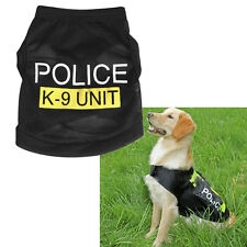 Dog Pet Vest Puppy Police Printed Tees T Shirt Cool Dog's Clothes Vests uni