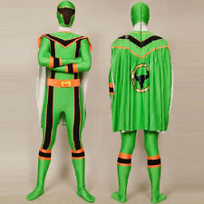 Green Power Rangers Mystic Force cosplay adult Halloween costumes bodysuit cloak