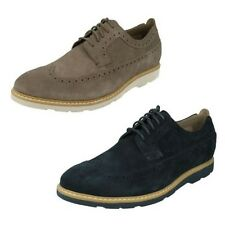 Men's Clarks Casual Lace Up Brogues Shoes Gambeson Dress