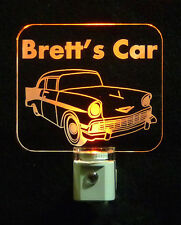 Personalized Chevy Car LED Nigh Light - Man Cave - Handmade Lamp