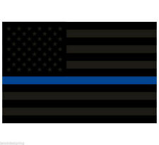 Thin Blue Line Decal -  USA Flag Blacklite REFLECTIVE Var Sizes free Ship