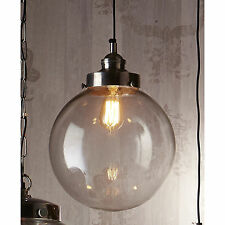 NEW Emac-Lawton PENDANT LIGHT | glass pendant with antique silver fitting