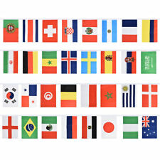 EUROPEAN FABRIC FLAGS BUNTING ENGLAND WALES IRELAND SPAIN ITALY GERMANY