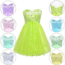 Short Tulle Sequins Girls Prom Party Dress Ballgown Evening Formal Dresses 2 4 6