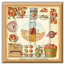 Light Switch Plate Cover Apple Crate Labels w/ Rocker Switch or Outlet