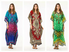 HOLIDAY TOP PLUS SIZE  KAFTAN TUNIC DRESS  FREE SIZE FITS 14,16,18,20,22,24